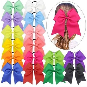 "16 pieces 8"" cheer bows with elastic ties 🆕"